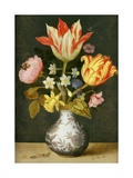 Still Life with a Wan'Li Vase of Flowers Giclee Print by Ambrosius The Elder Bosschaert