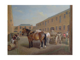 Loading the Drays at Whitbread Brewery, Chiswell Street, London, 1783 Giclee Print by George Garrard