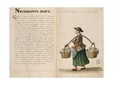 Drink-Seller, Venetian Giclée-Druck von Jan van Grevenbroeck