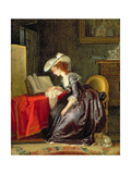 Woman Reading a Book Giclee Print by Jean-frederic Schall