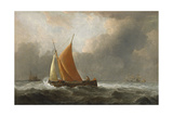 Kaag Close-Hauled in a Fresh Breeze, 1677 Giclee Print by Willem Van De, The Younger Velde