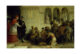 The Supplicants. the Expulsion of the Gypsies from Spain, 1872 Giclee Print by Edwin Longsden Long