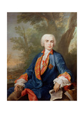 Portrait of Carlo Broschi, Called 'Il Farinelli', Italian Castrato Singer Giclée-tryk af Jacopo Amigoni