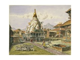 T615 Rato Machhendranath Temple at Bungamati, Newari Tribe Village, Nepal, July 1857 Giclee Print by Dr. Henry Ambrose Oldfield
