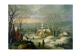 Winter Landscape Giclee Print by Joos or Josse de, The Younger Momper