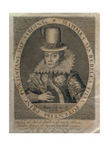 Pocahontas (1595-1617) 1616 Giclee Print by Simon de Passe