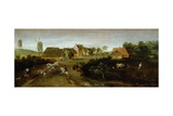 Landscape on the Outskirts of a Village Giclee Print by Jacob Grimmer