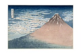 South Wind, Clear Dawn, from the Series '36 Views of Mount Fuji', C.1830-1831 Giclee Print by Katsushika Hokusai