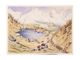 T612 Soldiers Invading Tibet from Nepal, Entrance to the Keerung Pass. the Plain Is Part of the… Giclee Print by Dr. Henry Ambrose Oldfield