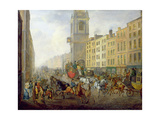 The London to Brighton Coach at Cheapside, 1831 Giclee Print by William 'de Lond' Turner