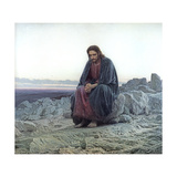 Christ in the Wilderness, 1873 Wydruk giclee autor Ivan Nikolaevich Kramskoy