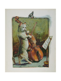 The Cat and the Fiddle, from an Illustrated Book of Children's Nursery Rhymes Giclee Print by John Lawson