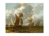 A Battle Offshore Giclee Print by Abraham Storck