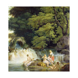 The Salmon Leap at Leixlip with Nymphs Bathing, 1783 Giclee Print by Francis Wheatley