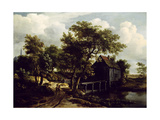 The Water Mill, 1662 Giclee Print by Meindert Hobbema