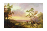 Landscape with Cattle and Peasant, C.1781 Giclee Print by Philip James De Loutherbourg