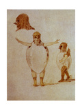 "Dance of the Hatched Chickens, Sketch for Costumes for the Ballet ""Trilby"" by Modest Petrovich… Giclee Print by Viktor Aleksandrovich Gartman"