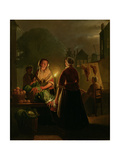 Vegetable Market by Candlelight Giclee Print by Petrus van Schendel