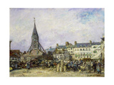 The Market at Sainte-Catherine, Honfleur Giclee Print by Johan-Barthold Jongkind