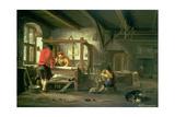 A Weaver's Workshop Giclee Print by Johannes Dircksz van Oudenrogge