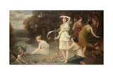Diana and Her Hand Maidens Giclee Print by Fernand Le Quesne