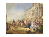 An Elegant Company before a Palace, 1668 Giclee Print by Hieronymus Janssens