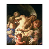 The Body of Christ Supported by Angels, C.1705-10 Giclee Print by Francesco Trevisani