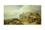 Drover's Halt, Island of Mull in the Distance, 1845 Giclee Print by Richard Ansdell