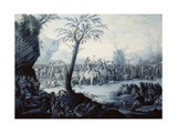 Chinoiserie Landscape with Figures and Animals Giclee Print by Jean Baptiste Pillement