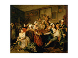 A Rake's Progress III: the Rake at the Rose-Tavern Giclee Print by William Hogarth