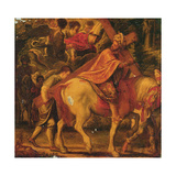 The Humiliation of the Emperor - the Finding of the True Cross Giclee Print by Adam Elsheimer