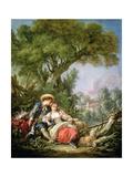 The Rest, 1764 Gicléedruk van Francois Boucher