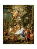 The Adoration of the Shepherds, 1741 Giclee Print by Frans Christoph Janneck