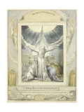 Job Praying (Pl.18) from the Book of Job, C.1793 Giclée-Druck von William Blake