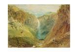 Hardraw Fall, Yorkshire, C.1820 Giclee Print by J. M. W. Turner