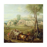 Haycart Passing a Ruined Abbey, C.1740-50 Giclee Print by John Wootton