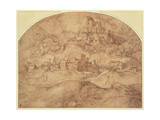 Mountainous Landscape Giclee Print by Domenico Campagnola