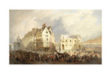 View of the Lawn Market, Edinburgh Giclee Print by William Gavin Herdman