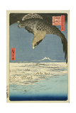 Eagle over 100,000 Acre Plain at Susaki, Fukagawa ('Juman-Tsubo'), from the Series '100 Views of… Giclee Print by Ando Hiroshige