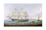 The Ship 'salacia' at the Mouth of the Tyne Giclee Print by John Scott