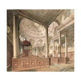 St. Stephen's Walbrook: Interior, 1811 Giclee Print by John Coney