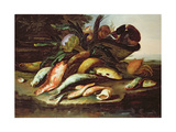 Still Life with Dead Fish and Game Giclee Print by Giuseppe Recco