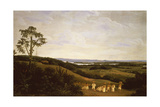 Panoramic View in Brazil with a River in the Distance Giclee Print by Frans Jansz Post