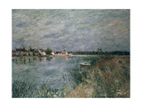 The River Banks at Saint-Mammes Giclee Print by Alfred Sisley