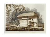 Waheiadooa, Chief of Oheitepeha, Lying in State, from 'Views in the South Seas', Pub. 1789 Giclee Print by John Webber