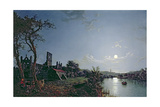 Morning with a View of Kirkstall Abbey Giclee Print by Henry Pether