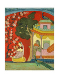 A Lady Plucking Blossoms, Southern Rajasthan or Deccan, C.1675 Giclee Print