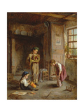 Boys with French Horn and Drum, 19th Century Giclee Print by J. Devaux