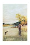 Trout Fisherman, 1889 Giclee Print by  Denton