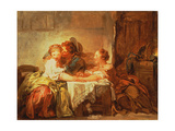 The Prize of a Kiss, 1760 Giclée-Druck von Jean-Honore Fragonard